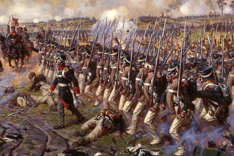 Дивизия героя Бородинского сражения князя П.И. Багратиона в наступлении