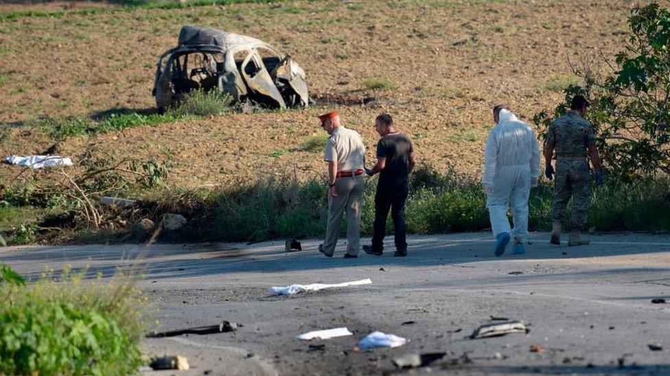 Фотография с места взрыва